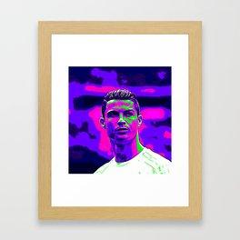 Ronaldo - Neon Framed Art Print