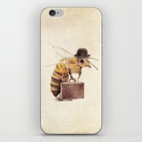 bee iPhone & iPod Skins featuring Worker Bee by Eric Fan