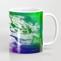 lace Mugs featuring Lace by Geni