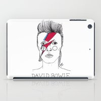 bowie iPad Cases featuring Bowie by ☿ cactei ☿