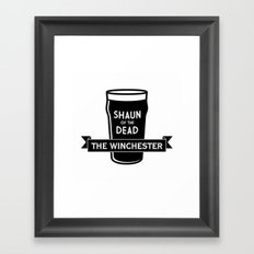 Shaun of the Dead - The Winchester Framed Art Print