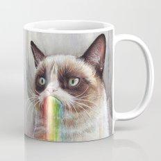 Cat Tastes the Grumpy Rainbow | Watercolor Painting Mug