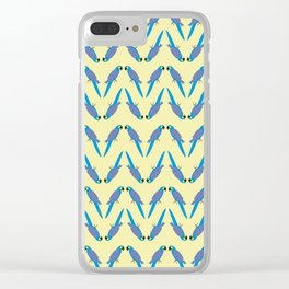 Zig Zag Macaw Clear iPhone Case
