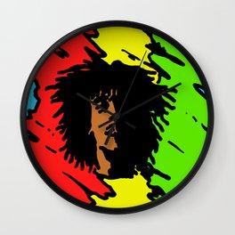 reggae art, reggae posters, reggae colors red yellow green, Wall Clock