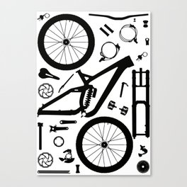 Downhill Bike Parts Canvas Print