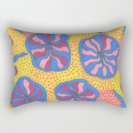 Colorful Retro Abstract Funk Rectangular Pillow