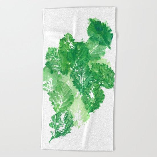 Leaves Dynamics Beach Towel