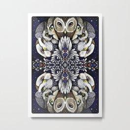 Owl Deck: Card Back Metal Print