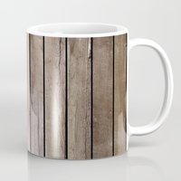 wooden Mugs featuring Wooden Texture by Patterns and Textures