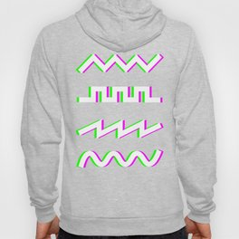 Glitch Synthesizer Audio Waveforms Hoody