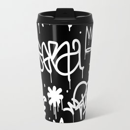 Black and White Graffiti Travel Mug