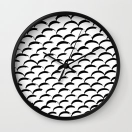 Inked Fish Scales Wall Clock