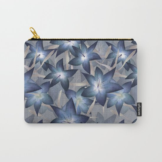 Blue lilies. Lily Carry-All Pouch