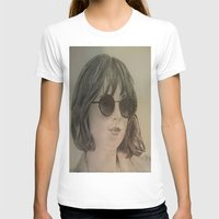 allyson johnson T-shirts featuring DAKOTA JOHNSON by Virginieferreux