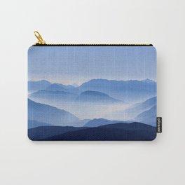 Blue Corno Nero mountain silhouettes in Italy Carry-All Pouch