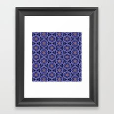 Starry Blue Pattern Framed Art Print