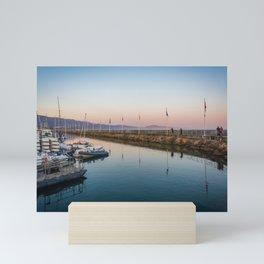 Sunset over Breakwater Mini Art Print