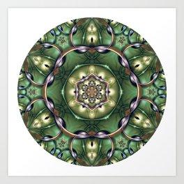 Mystery Mandala in Green Art Print