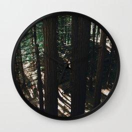 Whakarewarewa Redwoods, Rotorua, New Zealand Wall Clock