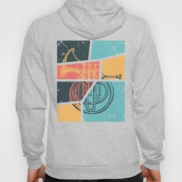 French Horn Retro Funny print French Horn Player Gift Hoody