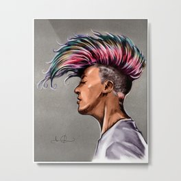 RGD Punk Rock Girl Portrait | Nikki the Bee Metal Print