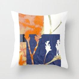 botanical collage 01 Throw Pillow