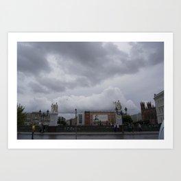 Berlin clouds Art Print