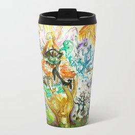 The All Seeing Eye Pyramid Watercolor Painting Travel Mug