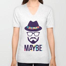 Maybe - mod. Brand t-shirt uomo-donna Unisex V-Neck