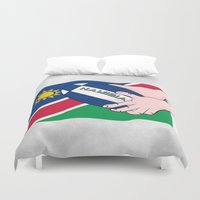 rugby Duvet Covers featuring Rugby Namibia by mailboxdisco