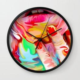 Melting Girl VI Wall Clock