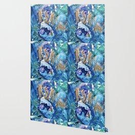 Golden Jellyfish Wallpaper