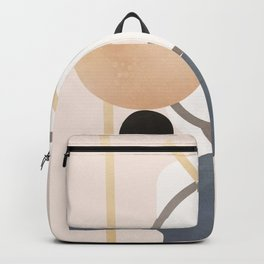 Minimal Abstract Shapes No.51 Backpack
