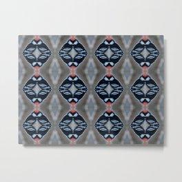 Patternized Male Downy Woodpecker  Metal Print