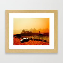 Mars National Monument Framed Art Print