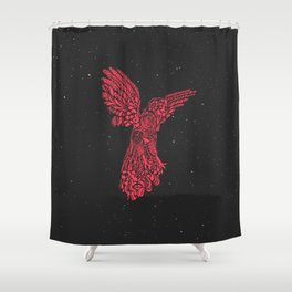 Gallito de las rocas peruvian bird red version by #Bizzartino Shower Curtain