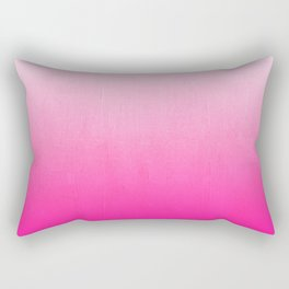 Orea - ombre pink modern colorful dorm college trendy gifts Rectangular Pillow