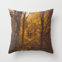 TREES in Western North Carolina Throw Pillow