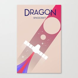 Dragon spacecraft Space Art. Canvas Print