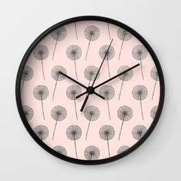 Contemporary X Paint Flower Dandelion Pattern Wall Clock