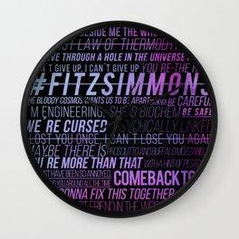 FS phrases Cutie Wall Clock