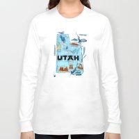 utah Long Sleeve T-shirts featuring UTAH by Christiane Engel