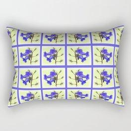 California Bluebell Faux Quilt Rectangular Pillow