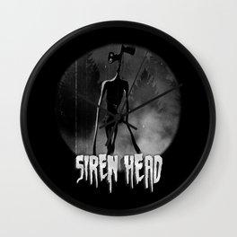 Scary Siren Head vintage meme Wall Clock