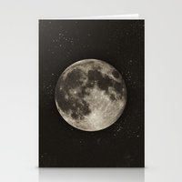 minimalist Stationery Cards featuring The Moon  [Sans Type] by Heather Landis