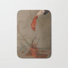 Rootless. Red hand Bath Mat