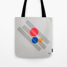 Abstract Suprematism Equilibrium Art Red Blue Yellow Tote Bag