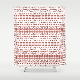 Scandi Hygge Red Shower Curtain
