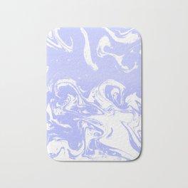 Suminagashi marble pastel blue minimal painting watercolor abstract Bath Mat