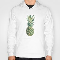 pineapple Hoodies featuring Pineapple by Cassia Beck
